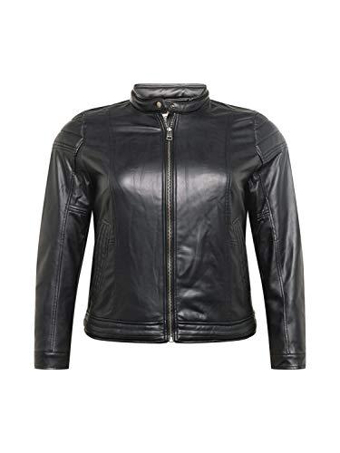 ESPRIT Curvy Biker-Jacke in Leder-Optik, vegan
