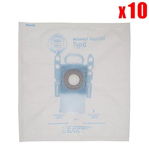 YanBan 10 sacchetti di ricambio per aspirapolvere Bosch in microfibra tipo G GXXL GXL MegaAir SuperTex BBZ41FGXXL