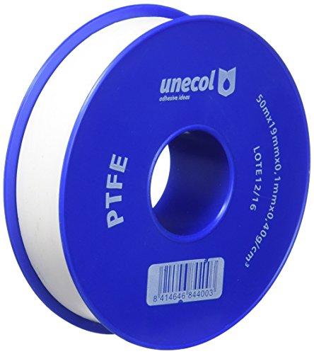 Unecol 8440 Cinta (PTFE, rollo), Blanco, 50 m x 19 mm x 0,1