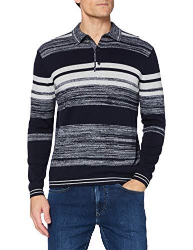 Pioneer Herren Polokragen Polo-Pullover, moodindigo, S