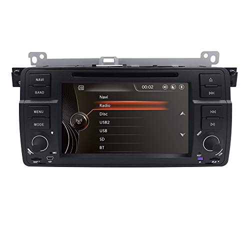 hizpo Single Din 7 inch In Dash Multimedia Headunit HD Touchscreen Car DVD Player GPS Navi Stereo Steering Wheel Control Bluetooth SD USB Radio AV-IN 1080P