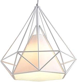Lámpara de techo industrial de hierro con forma de diamante, pantalla de 25 cm