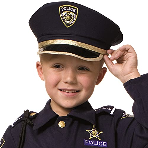Dress Up America Faites semblant de jouer chapeau bleu de police pour les enfants.