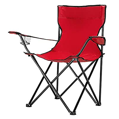 NewMultis 19.69 x 19.69 x 31.50 Inch Foldable Chairs Camp Chair Camping Furniture Camping Chairs (red)