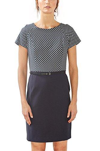 ESPRIT Collection Damen 997EO1E800 Kleid, Blau (Navy 400), 38