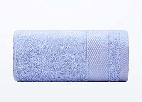 Fuduoduo Toalla de baño Grande,Toalla Absorbente Suave para el hogar de algodón Puro 74 * 33-Azul Claro 2 Piezas,Toallas De BañO Duraderas De Primera Calidad
