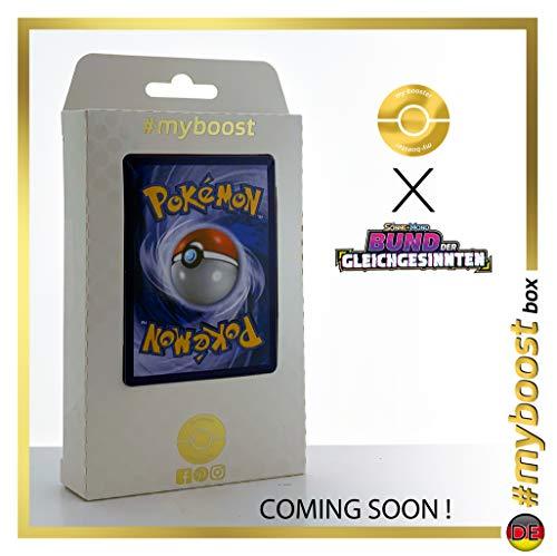 Mewtu & Mew-GX (Mewtwo y Mew-GX) 222/236 Full Art - #myboost X Sonne & Mond 11 Bund des Gleichgesinnten - Coffret de 10 Cartes Pokémon Allemandes