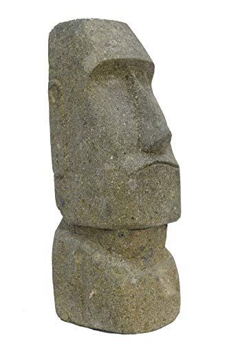 Interlifestyle Moai aus grünem Lavastein 30cm Osterinsel Figur Lavagestein