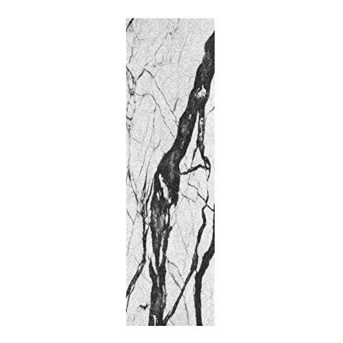 Arte Negro Blanco Mármol Papel de Lija para monopatín Antideslizante Skateboard Grip Tape Hojia Cinta de Agarre Lijas 84x23cm para Longboard Scooter