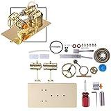 XIAN Stirling Motor Kit DIY Metall Stirling Motor Generator Modell Stromerzeuger Motor...