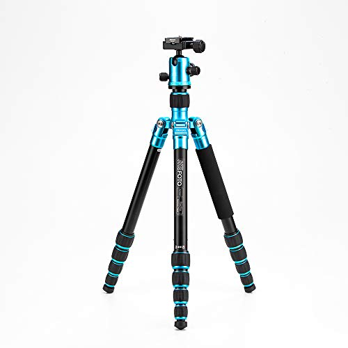 MeFOTO RoadTrip Classic Lightweight 61.6' Aluminum Travel Tripod/Monopod w/Case, Twist Locks, Triple Action Ballhead w/Arca Swiss Plate for Mirrorless/DSLR Sony Nikon Canon Fuji - Black (A1350Q1K)