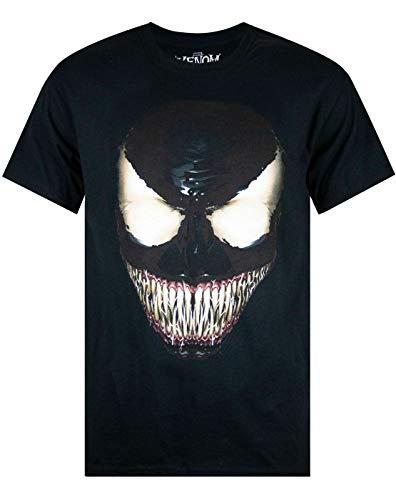 Manga Corta Camiseta de Marvel Comics Venom Hombres de la Cara de Negro