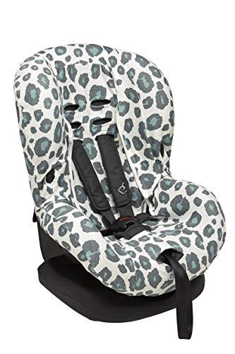 Meyco 524156 Housse de protection universelle pour siège auto enfant Groupe 1+ Système de ceinture 3 points 100% coton jersey interlock Vert pierre