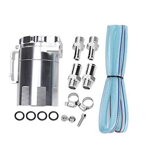 EBTOOLS Serbatoio olio, motore in alluminio Sfiato olio serbatoio serbatoio Serbatoio Accessori per la modifica dell automobile(Argento)