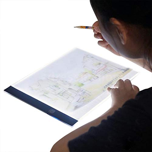 Painting Tracing Board Copy Pad Panel Drawing Tablet Art Artcraft Stencil Light Box for Tracing A5 Light Pad Tracer for Drawing Artists Sketching Animation