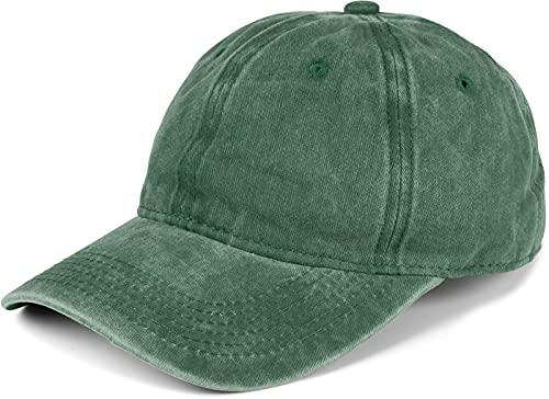 styleBREAKER 6-Panel Vintage Cap im Washed Used Look, Basecap, Baseball Cap, verstellbar, Unisex 04023054, Farbe:Dunkelgrün