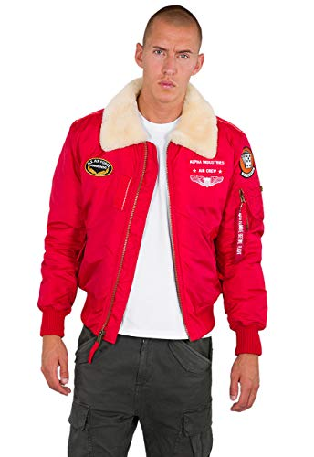 ALPHA INDUSTRIES Men Winter Jacket Injector III Air Force, Talla:S, Color:Speed Red