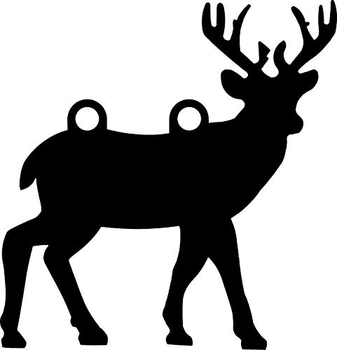 """High Caliber AR500 Animal Targets - Deer 2-14"""" X 15"""" X 1/2"""" - More Animals & Sizes in The Listing - Steel Targets Practice for shooing Pistol and Rifles"""