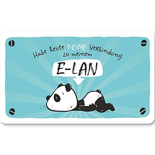 Hope & Gloria 45669 Panda E-LAN, Frühstücks-Brettchen, Resopal, 14,3 cm x 23,3 cm x 0,2 cm Schneidebrett, Blau