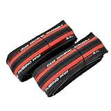 Vittoria Rubino Pro IV G2.0 Graphene Clincher Neumático 700x25C, Rojo/Negro, 2 Neumáticos, VT1854