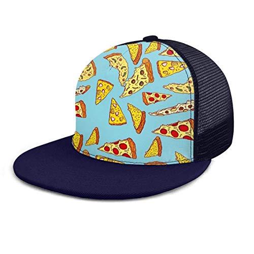 Snapback Hat Pizza Zombies Snapback Mütze Papa Mütze Gemütliche Sport Shopping Angelpark Langlebig Unisex Golf Bunte Trucker Hut Klassische Outdoor Leichte Sommer Baseball Hut Kam