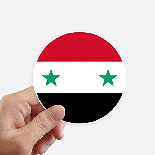 DIYthinker Syrië Nationale Vlag Azië Land Ronde Stickers 10 Cm Wandkoffer Laptop Motobike Decal 8 Stks