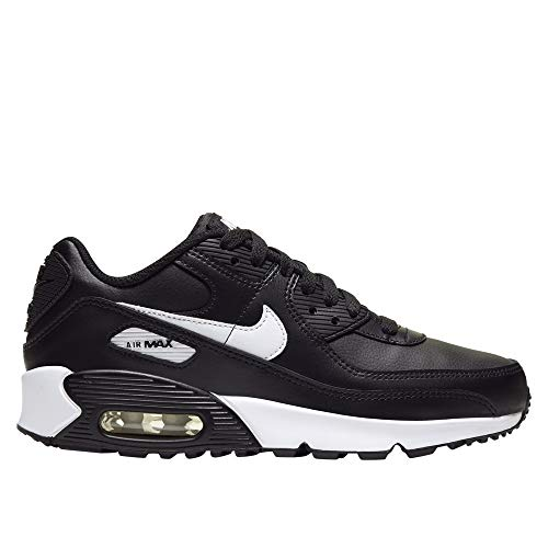 Nike Air Max 90 Leather GS Zwart/Wit - Kinder Sneaker - CD6864-010 - Maat 36