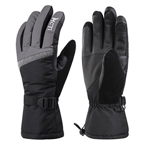 MCTi Guantes Esquí Termicos Pantalla Táctil Mujer Guantes Invierno Nieve Snowboard Impermeable Caliente Muñequeras