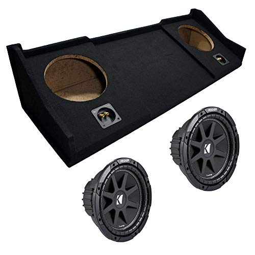 """Compatible with Dodge Ram 98-01 Extended Cab Truck Dual 10"""" Kicker C10 Subwoofer Sub Box Enclosure 600 Watts Peak"""