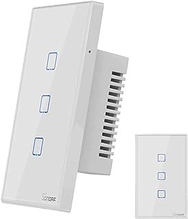 Sonoff® T2 Us Interruptor Wifi Inteligente 3 Botões Touth Screen Wi-fi & Rf 433 Mhz, Funciona com Alexa