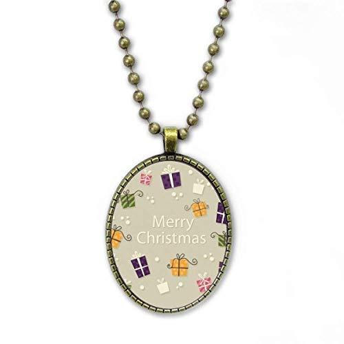 Weihnachtsgeschenk Fröhliches Weihnachtsfest Halskette Vintage Chain Bead Anhänger Schmuckkollektion