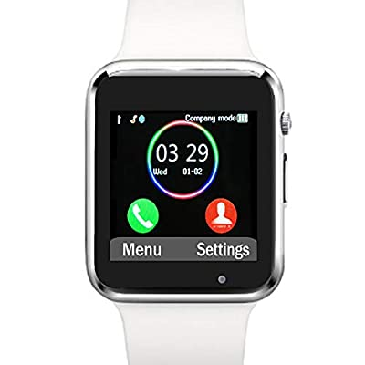 Funntech Smart Watch with Unlocked 2G GSM Phone Call Activity Tracker Fitness Tracker Pedometer Sleep Monitor A1 by Myfuntab Technologies Inc.