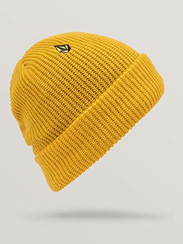 Volcom Polar Lined Beanie Gorro, Mujer, Yellow, O/S