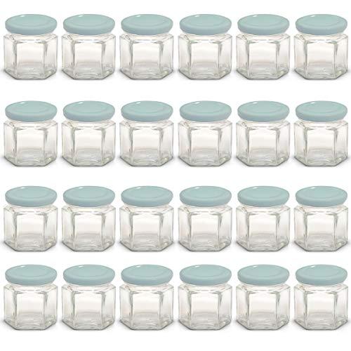 Mini tarros de cristal hexagonales de 42,5g