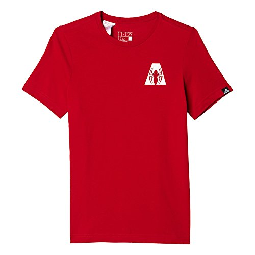 adidas A Spider-Man - Camiseta para niño, Color Rojo, Talla 116