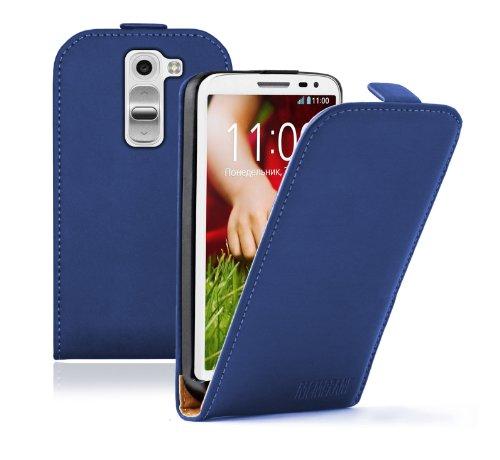 Membrane - Ultra Slim Azul Funda Carcasa para LG G2 Mini (D620, D620R, D620K, Dual SIM D618) - Flip Case Cover