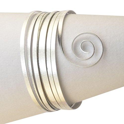 Vaessen Creative - Filo Metallico di Alluminio con goffratura Piatta, 5 x 1 mm, 5 m Argento
