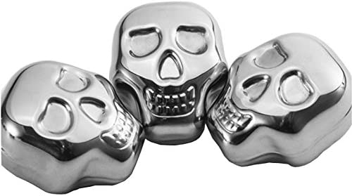 304 Stainless Spring new work one after another Steel Skull Shaped Chillin Cubes SEAL limited product Chillers Wine Ice