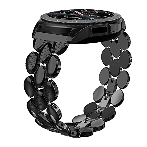 Metal Band for Samsu Galaxy Watch 20mm Strap for Gear S3 Frontier/Galaxy Watch Active 40mm Strap 10688 (Band Color : BLACK)