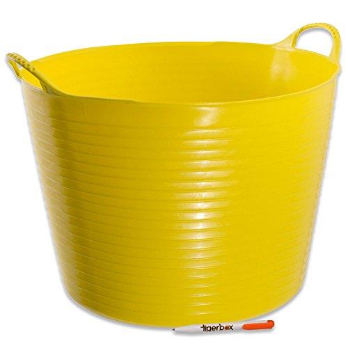 Gorilla® Aufbewahrungskörbe für Eimer, flexibel, stabil, Rot (alle Farben und Größen) & Tigerbox® antibakterieller Stift, gelb