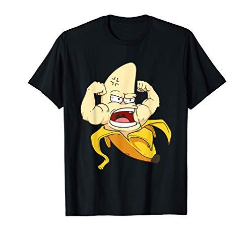 Bananen Kostüm Muskel Bizeps Banane Frucht T-Shirt