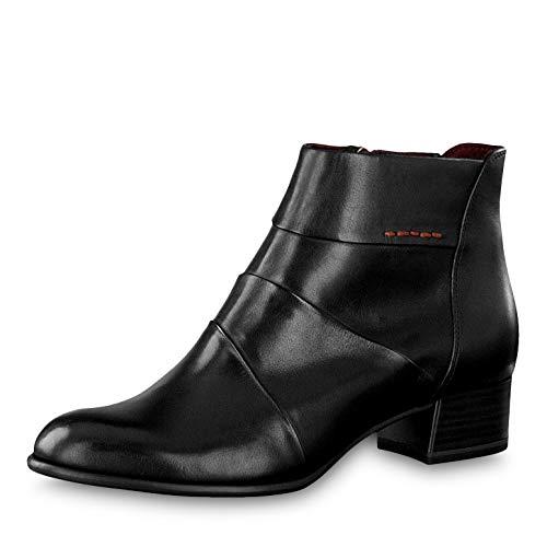 Tamaris Damen Stiefeletten 25366-23, Frauen Ankle Boots, Woman Freizeit leger Stiefel halbstiefel Stiefelette Bootie knöchelhoch,Black,40 EU / 6.5 UK
