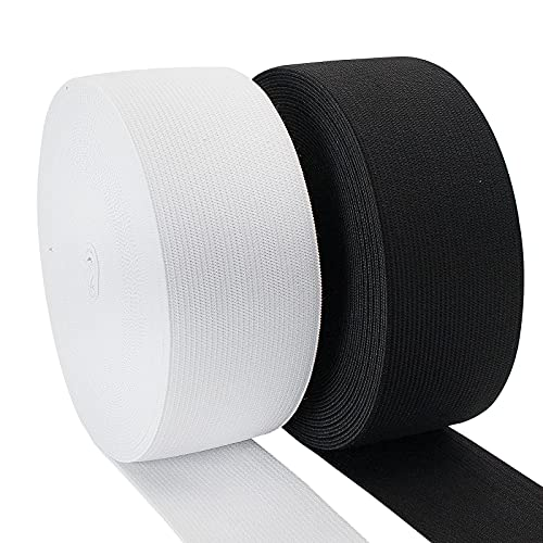 Waycreat 2 Inch Thick Elastic Bands 11 Yard Wide Elastic Bands for...