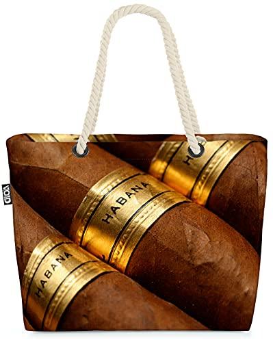 VOID Zigarren Kuba Havanna Strandtasche Shopper 58x38x16cm 23L XXL Einkaufstasche Tasche Reisetasche Beach Bag