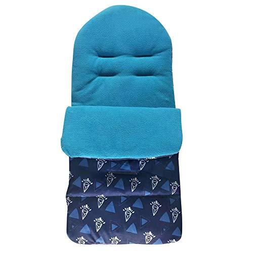 HINK Baby Care, Saco Universal para bebés y niños pequeños Cozy Toes Delantal Liner Diamo Pram Stroller Blue