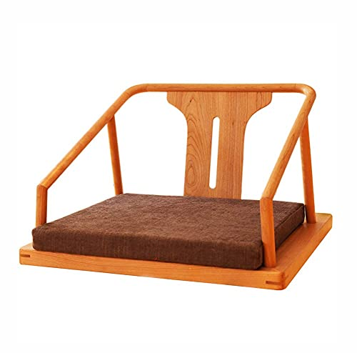 N&O Renovierungshaus Bodenstuhl Innenstuhl Tatami Stuhl Massivholzstuhl Japanischer Stil Und Zimmerstuhl Mit Armlehne Einzelstuhl Kirschholz