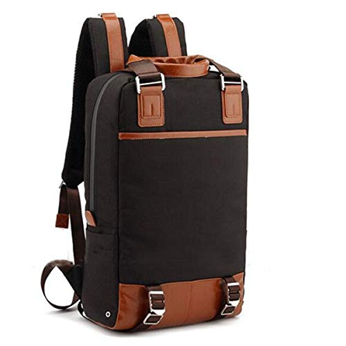 Fashion Travelling Backpack Bag For Men Large-capacity Casual Backpack Fashion Trend Travel Bag leather (Color : Black, Size : S)