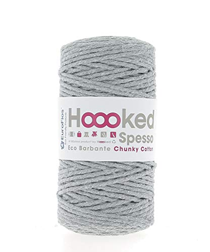 Hoooked Recycling-Garn Spesso Chunky Cotton (Gris)