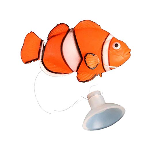 1pc Aquarium Dekoration Marine Tropen Aquarium Landschaftsbau Nacht Simulieren Gefälschte Aquarium Ornamente (Color : Orange and White)