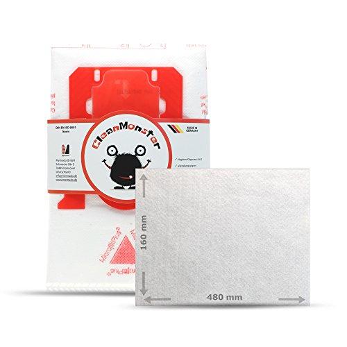 Cleanmonster - 20 bolsas para aspiradora AEG VX4, VX6 (todas las versiones compatibles con GR201, S-Bag&Swirl PH86 + microfiltro (suficiente para 5 cortes)